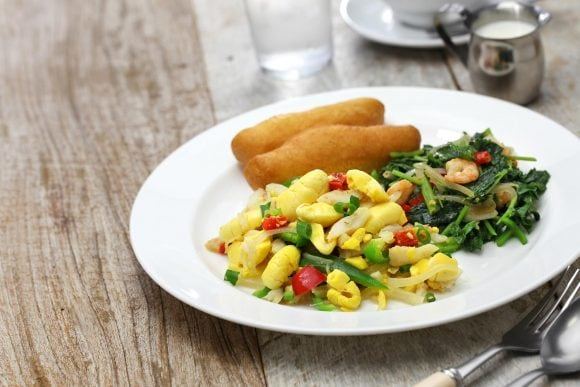 Ackee con bacalao gastronomía Jamaica
