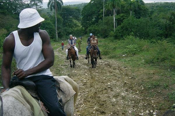 Beach horseback riding at Jamaica 1