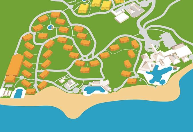 Mapa resort